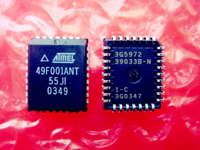 СК Integrated Circuit AT49F001ANT-55JI Flash Flash 1М (128K x 8) 5V Топ BOOT - 55NS PLCC IND TEMP