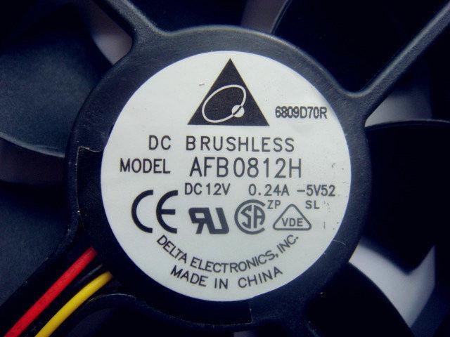 Professional Custom Computer Accessories AFB0812H 80X80X25MM Delta DC Fan